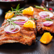 Stock Photo: Marinated BBQ spare ribs