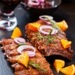 Marinated BBQ spare ribs - Stock Photo