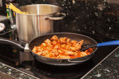 Cooking meat balls with pasta — Foto de Stock