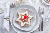 Plate for Christmas evening — Stock Photo