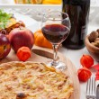 Apple pie or tart with red wine — Stock Photo #13703802