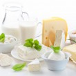 Assortment of dairy products — Stock Photo