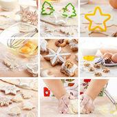Christmas baking collage — Stock Photo
