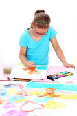 школьница живопись — Стоковое фото