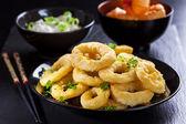 Calamari rings — Stock Photo