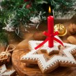 Homemade gingerbread candle for Christmas - Stock fotografie