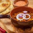 Mexican chilli con Carne with red lentils — Stock Photo