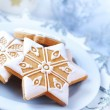 Homemade gingerbread for Christmas — Stock Photo
