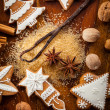 Royalty-Free Stock Photo: Gingerbread cookies with nuts and spices