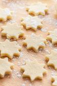 Biscoitos de natal cru — Foto Stock