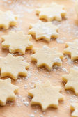 Raw Christmas cookies — Stock Photo