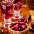 Cranberries with hot mulled wine — Stock Photo #14976273