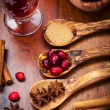 Ingredients for cranberry hot mulled wine — Stock Photo #14976325