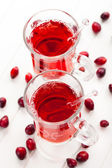 Hot drink with cranberries — Stock Photo
