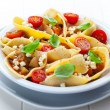 Pasta with vegetable stew - Stock Photo