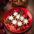 Homemade gingerbread star cookies for Christmas — Stockfoto