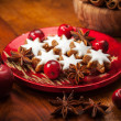 Homemade gingerbread star cookies for Christmas — ストック写真