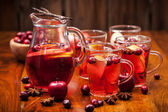 Hot punch for winter and Christmas — Stock Photo
