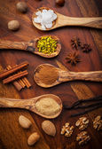 Aromatic baking ingredients for Christmas cookies — Stock Photo