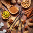 Aromatic food ingredients for baking cookies — Stock Photo #16628023