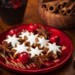 homemade gingerbread star cookies for christmas — Stock Photo #16760597