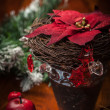 Christmas decoration on wooden table — Stock Photo #16760605