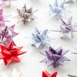 Variation of Paper Christmas stars — Stock Photo