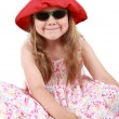 Cute funny little girl — Stock Photo