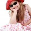 Cute funny little girl - Stock Photo