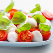 Royalty-Free Stock Photo: Tomato salad with mozzarella and basil