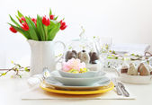 Place setting for Easter — Foto Stock