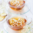 Cup of elder flower tea — Stock Photo