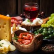 Antipasto and catering platter — Stock Photo