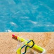 Stock Photo: Snorkel with swimming pool