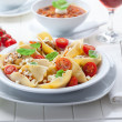 Stock Photo: pasta with a tomato bolognese beef sauce