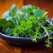 Herbs from garden — Stock Photo