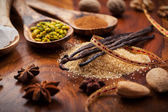Aromatic food ingredients for baking — Stock Photo