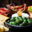Stock Photo: Antipasto with green olives