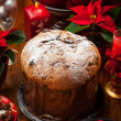 Stock Photo: Panettone cake for Christmas