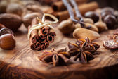 Christmas spices and nuts — Stockfoto