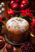 Panettone cake for Christmas — Stock Photo