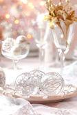 Mesa de natal decorada — Foto Stock