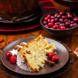 Panettone - traditional Italian Christmas cake — Stock Photo