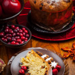 Stock Photo: Panettone - traditional ItaliChristmas cake