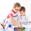 Kids painting — Stock Photo #33152313