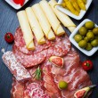 Stock Photo: Antipasti and catering platter
