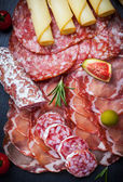 Antipasti and catering platter  — Stock Photo