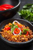 Traditional chilli con carne — Stock Photo