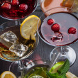 Party cocktails and longdrinks for summer — Stock Photo #49234759