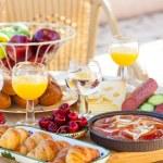 Summer breakfast in garden — Stock Photo #49235485